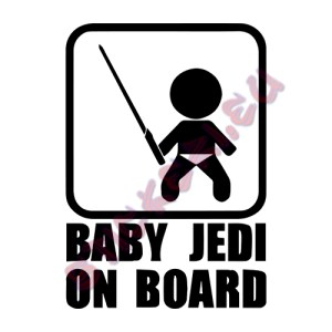 Стикер baby jedi on board - 1 - Sticker.eu