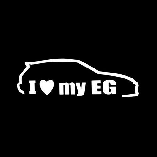 Стикер I Love my EG 4