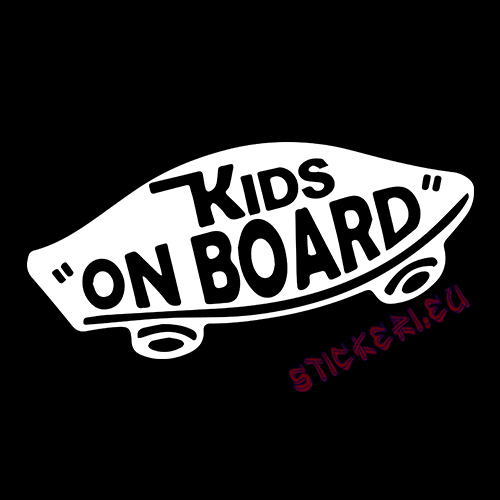Стикер kids on board - 2 - Stickeri.eu