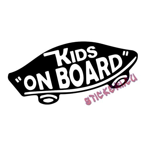 Стикер kids on board - 1 - Stickeri.eu