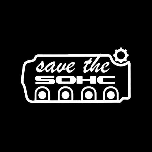 Стикер Honda Save The SOHC 2
