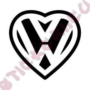 Стикер VW сърце