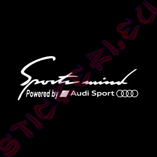 Стикер за кола Sports Mind Audi Sport Black