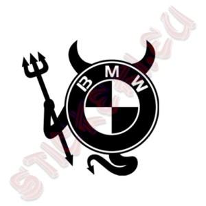 Стикер за кола Devil BMW