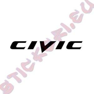 Стикер за кола Civic