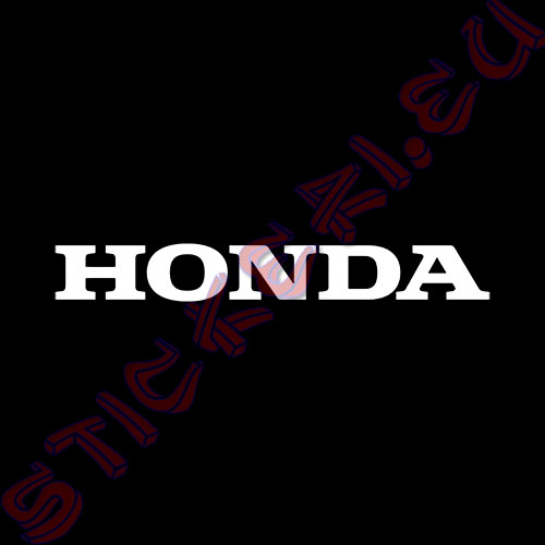 Стикер за кола Honda Black