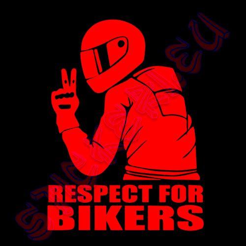 Стикер Respect For Bikers 4