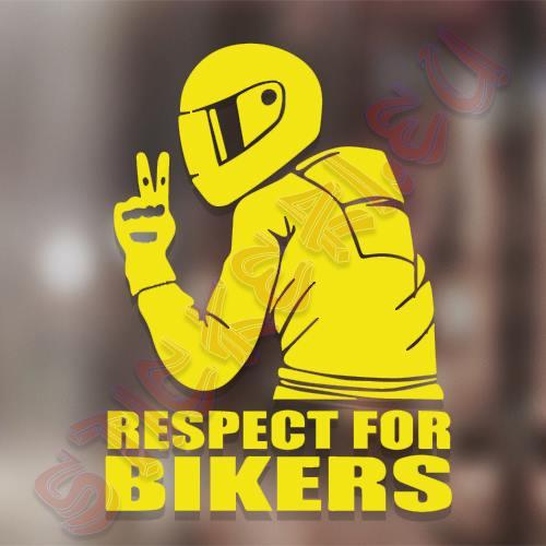 Стикер Respect For Bikers 5