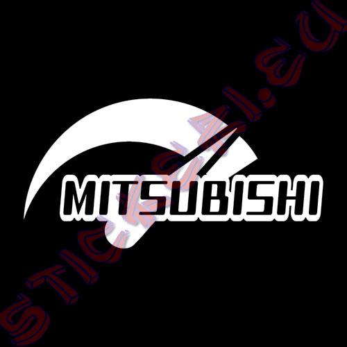 Стикер за автомобили Мitsubishi Power бял