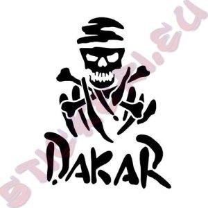 Стикер Off Road Dakar череп