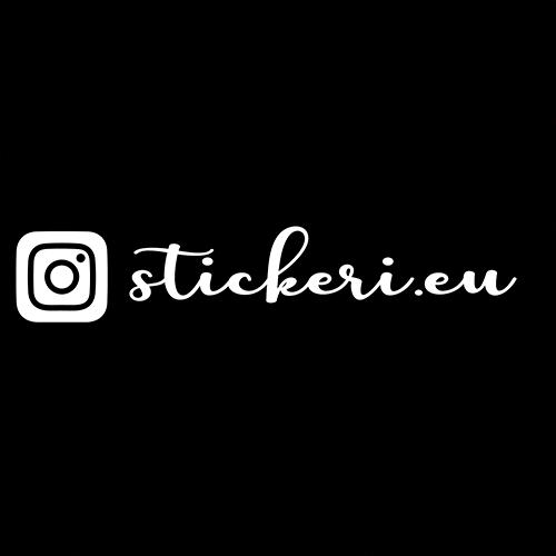 Стикер за кола с твоето Instagram име - 2