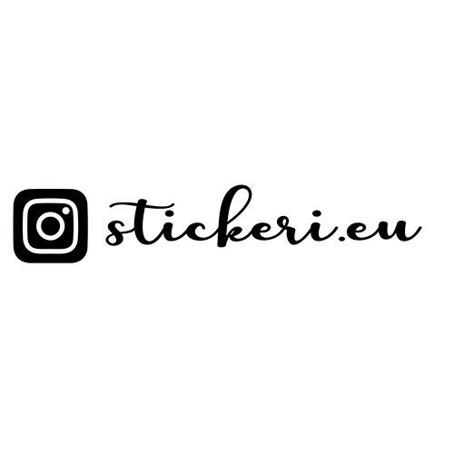 Стикер за кола с твоето Instagram име - 5