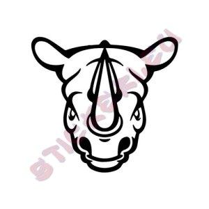 Стикер за кола носорог
