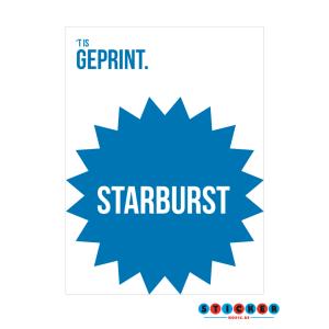 Starburst stickers