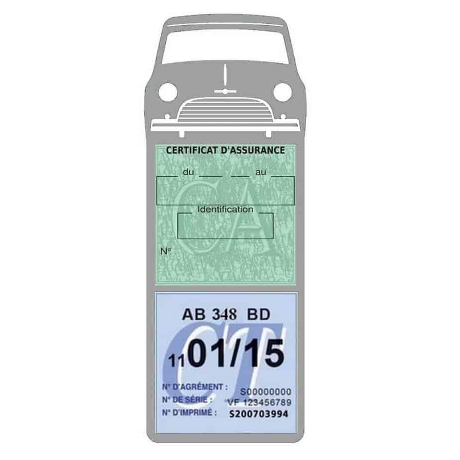 Mini Cooper Austin 1000 vignette assurance voiture grise