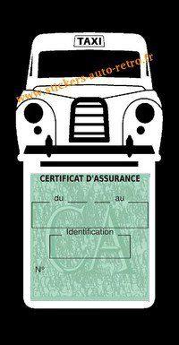 Porte assurance voiture taxi BlackCab Anglais de Londres Stickers rétro adhésif vinyle blanche.