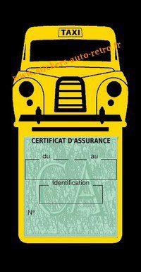 Porte assurance voiture taxi BlackCab Anglais de Londres Stickers rétro adhésif vinyle jaune.