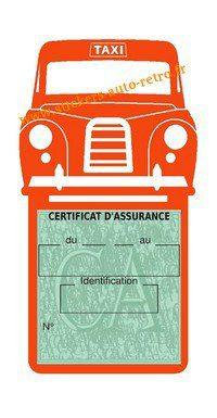 Porte assurance voiture taxi BlackCab Anglais de Londres Stickers rétro adhésif vinyle orange.