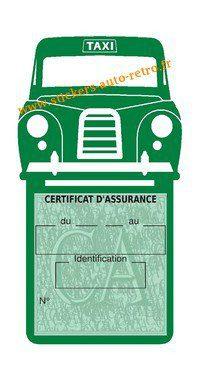 Porte assurance voiture taxi BlackCab Anglais de Londres Stickers rétro adhésif vinyle vert foncé.