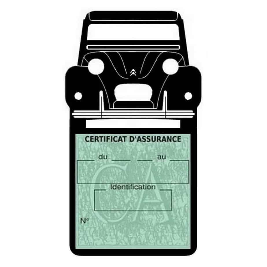 2CV Citroën vignette assurance voiture
