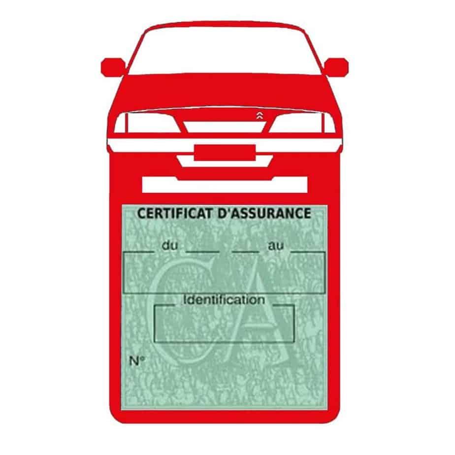 AX CITROEN vignette assurance voiture rouge