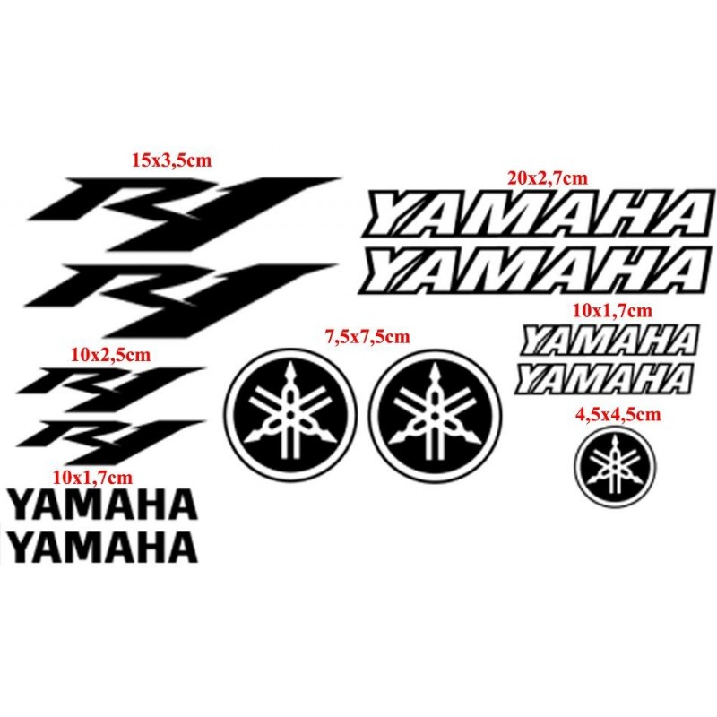 Planche 13 stickers YZF R1