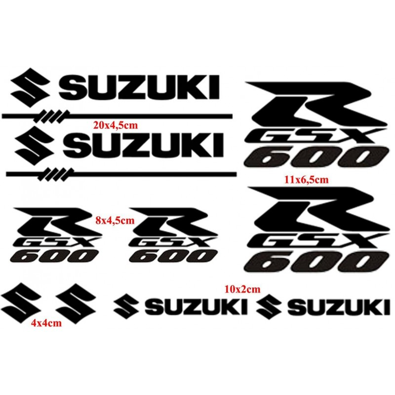 Planche 10 Stickers Suzuki GSX-R 600