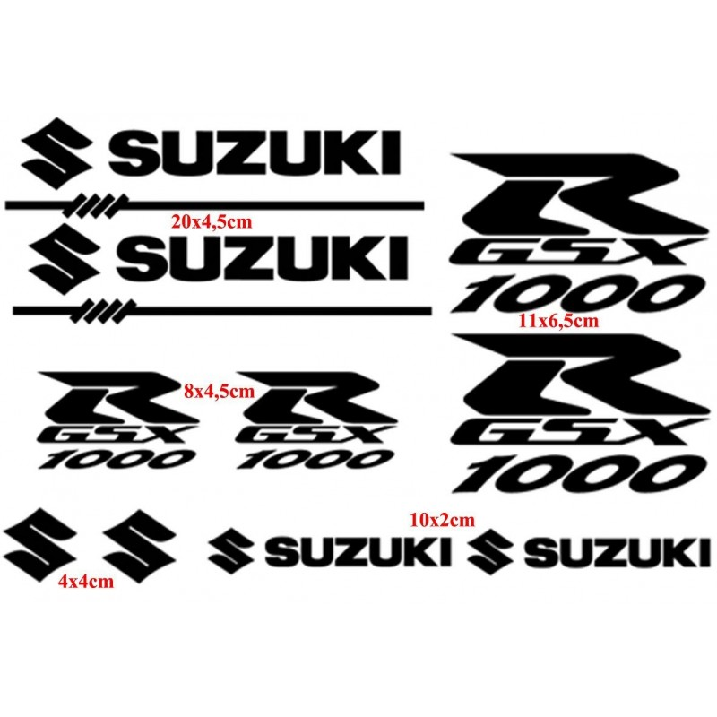 Planche 10 stickers GSXR 1000
