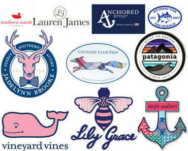 preppy brand stickers