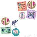 Marley Lilly Preppy Stickers Set