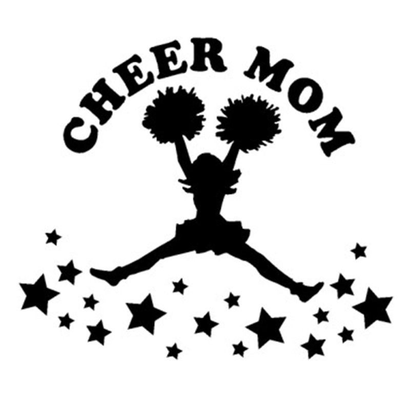 Cheer Mom Stars Sticker