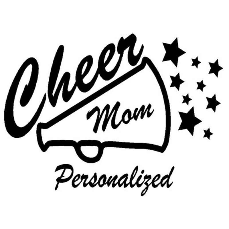 Cheer Mom Megaphone Sticker