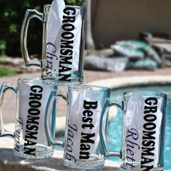 Personalized Kitchen Towels Newport Brass Faucets Groomsman Beer Mugs