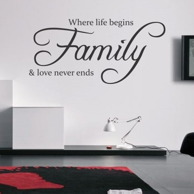 Adesivo Murale Life And Family  Stickers Murali