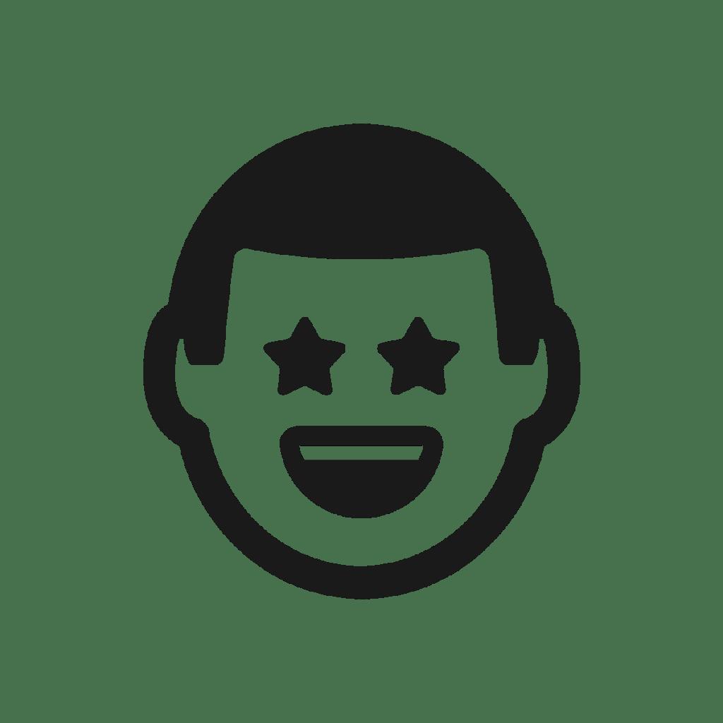 Pop culture stickers icon