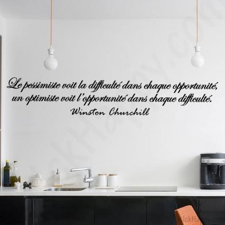 Citations clbres Winston Churchill pour dcorer un mur peint