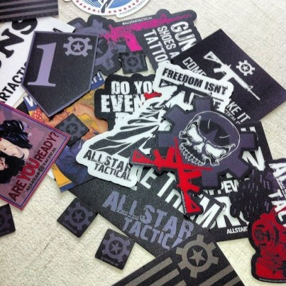 Various Offset Cut Stickers