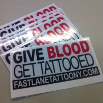 Fast Lane Tattoo Bumper Sticker
