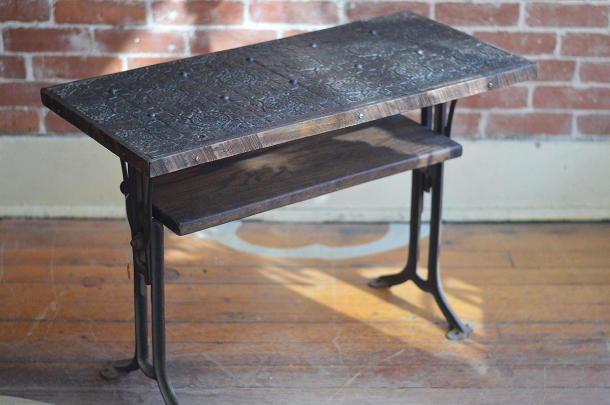 Adjustable Iron Table