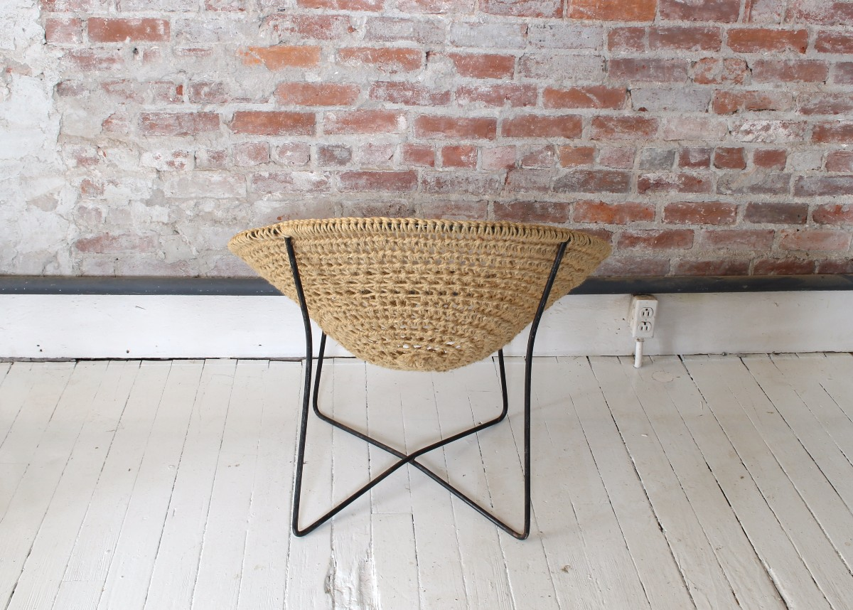 Crocheted Jute Circle Chairs