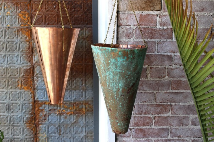 sticks and bricks northampton ma hanging copper planters