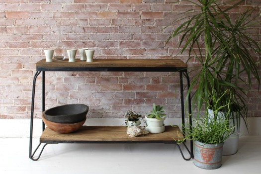 sticks and bricks aquarium base console table