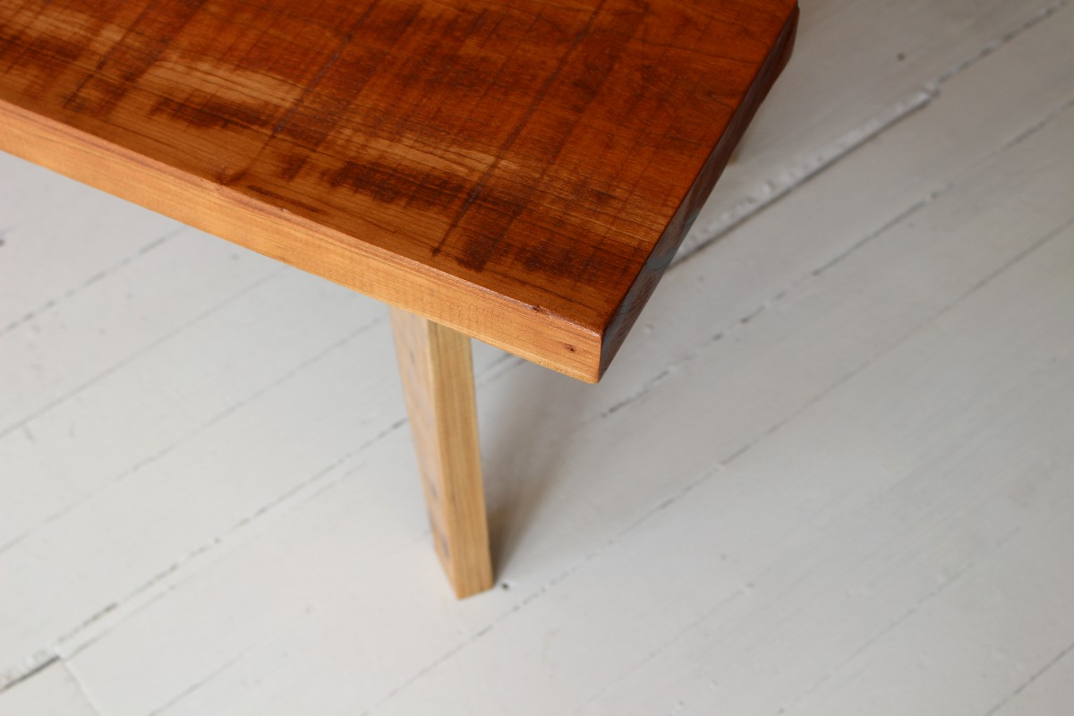 sticks and bricks coffee table with tapered legs