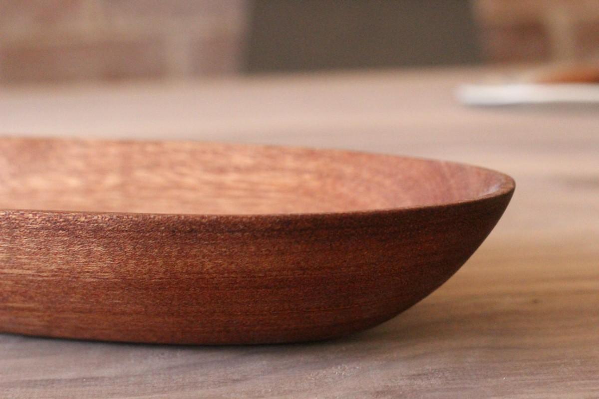 serving dish in mahogany sticks and bricks justin kemp