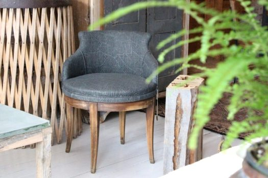 vintage swivel chair sticks and bricks