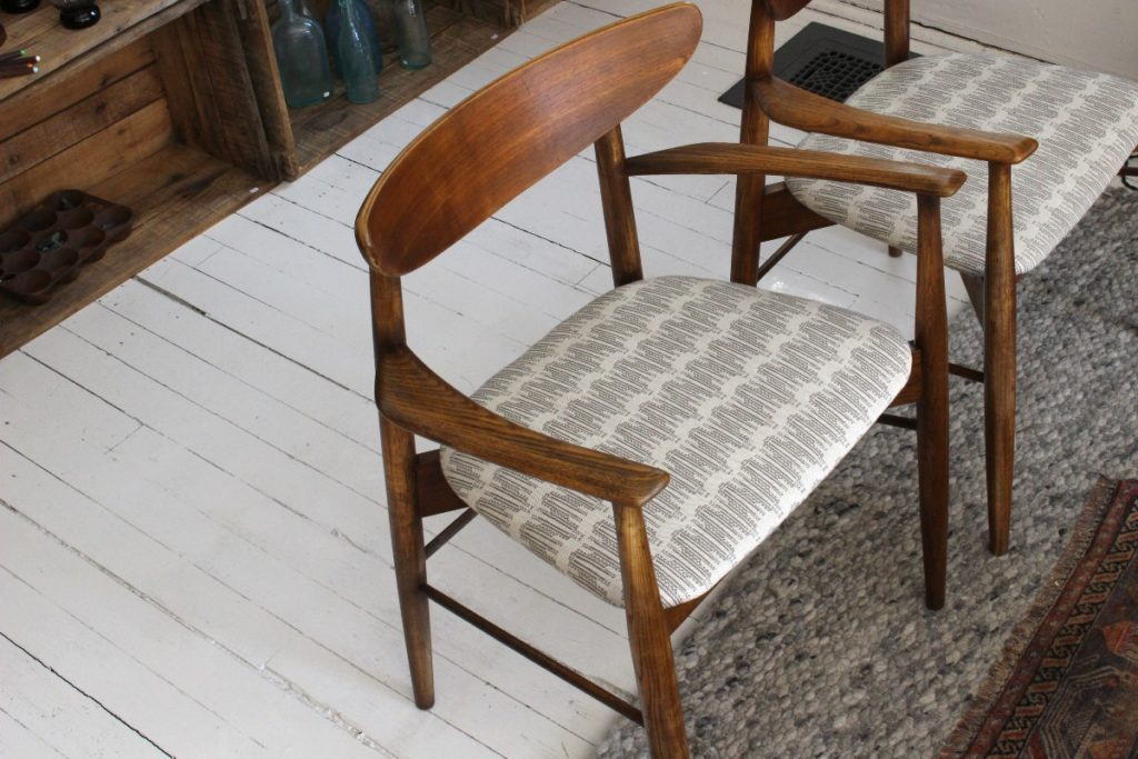 sticks and bricks pair of mid century chairs
