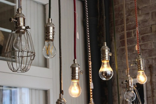 pendant lights by sundial wire at sticks and bricks