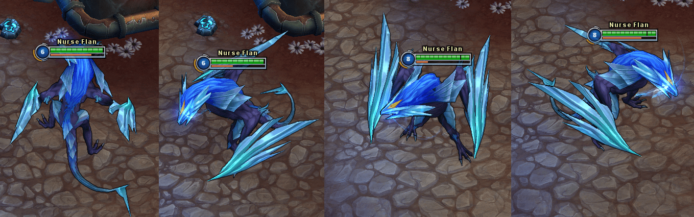 League Of Legends Ice Drake Shyvana Dragon In Game Stick