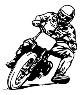 Flat Track Motorcycle Racer 1 Decal Sticker