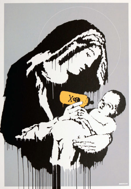 toxic Mary, stick together gallery, banksy